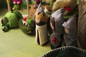 Gnomi in lana cardata