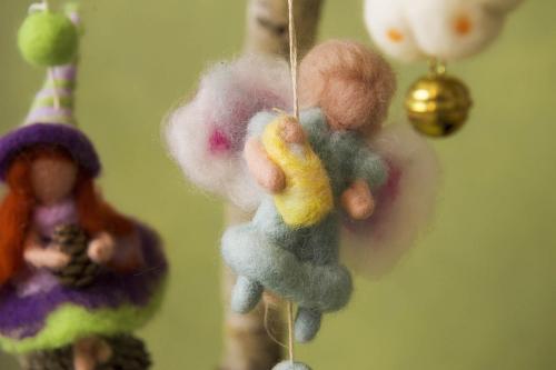 Mobiles e Ghirlande in lana cardata